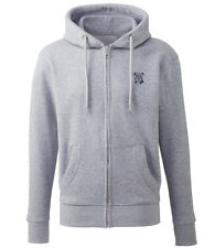 More details for staffordshire bull terrier clothing gifts embroidered organic full zip hoodie