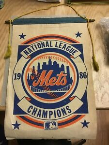 1986 New York Mets N.L. Champs Banner