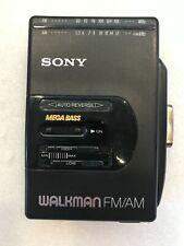 Vintage Sony Walkman Radio Cassette Tape Player Wm-F2065 Radio Working Only