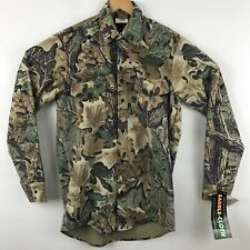 WestArk Mens Camo Shirt Size M Hunting Saddle Cloth Long Sleeve Button Up Flaw