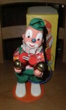 Sonni circa 1960's pump action toy Bell ringing clown. Vintage Original Box.