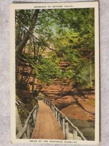 Vintage 1930s Postcard: Entrance to Witches Gulch Dells of the Wisconsin River