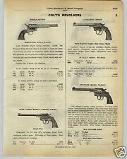 1930 PAPER AD Colt Revolver Camp Perry Target Pistol Army Frontier Police