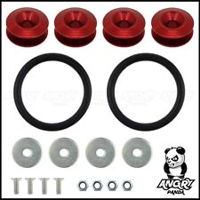 RED JDM QUICK RELEASE BUMPER FASTENERS DRIFT RACE RALLY