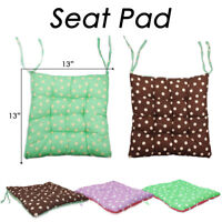 2X TIE ON CHUNKY TWO SIDED POLKA DOT SPOT COTTON SEAT PAD DINING OFFICE CUSHIONS