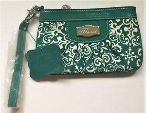 Flaunt by Faith Nicole Palazzo Teal Wristlet Mini Purse Bag NWT - FREE SHIPPING