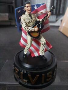 Elvis Presley figure, G I Blues.  Franklin mint.