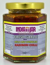 FRESH GARLIC WITH MILD AND WRINKLED KASHMIR CHILLI by INDIA IN A JAR x 4 #inj