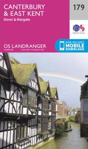 Canterbury & East Kent Dover & Margate Landranger Map 179 Ordnance Survey Latest