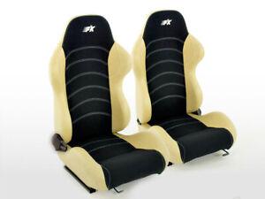 Sport Sièges Seats 4052078960362 Noir/Beige Réglable Universel Tuning