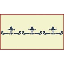 Fleur De Lis Border Stencil - French Stencils- The Artful Stencil