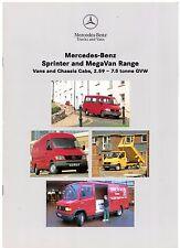 Mercedes-Benz Sprinter MegaVan 1995-96 UK Market Sales Brochure Van Chassis-Cab
