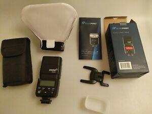 Flashpoint R2 TTL Zoom Mini flash Sony Alpha Cameras and lumiquest ultrasoft box
