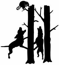 Coon Decal #44, Raccoon Hunting Sticker for Trucks, Vinyl Windows