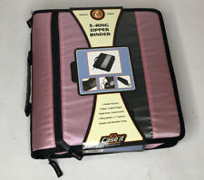 Case-It® 3-Ring  Zipper Binder - AUTHENTIC, ORIGINAL - BRAND NEW - PINK/BLACK