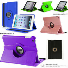 360 Leather Smart Cover Hard Case for Apple iPad 2 3 4 5th 6th AIR2 Mini4 Mini 3