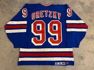Wayne Gretzky New York Rangers Authentic Hockey Game Jersey, Cosby, CCM 50