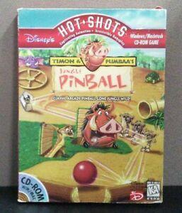 Disney's Hot Shots Timon & Pumbaa's Jungle Pinball Windows Mac CD Rom Game