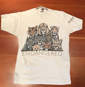 Vintage Shirt Size L Mens Rain Forest Cafe Endangered Species Single Stitch