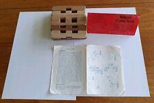 """Vintage  """" Mahogany 12 - piece Puzzle """" Games"""