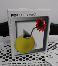 PO: Select Contemporary Modern Design Yellow Cuco Vase Original Box