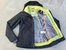 Columbia OMNI TECH Ski Snow Jacket w OMINI HEAT puffer liner women's M Black