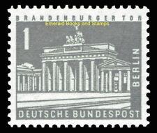 EBS West Berlin 1956 Berlin Townscapes - 1 Pfennig FLUORESCENT Michel 140y MNH**