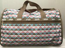 NWT LeSportsac Large Weekender Duffle Travel Bag Pink Pyramid   $118