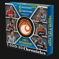 2019/20 CHRONICLES BASKETBALL HOBBY PACKS NEW SEALED AUTOS?! 19-20 NBA ZION?!