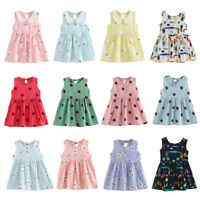 Baby Kid Girl Child Dress Toddler Princess Party Tutu Summer Floral Dresses Cute