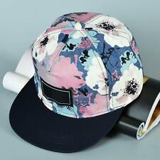 Fashion Men's Snapback Adjustable Baseball Cap Hip Hop Hat Floral navy blue TH