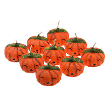 Pack of 9 Spooky Pumpkin Halloween Candles in a Mini Wooden Crate - XZ740