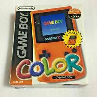 Nintendo Game Boy Color Clear Orange DAIEI Hawks Limited Boxed USED F/S Japan