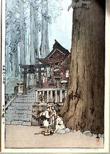 HIROSHI YOSHIDA (1876-1950): Misty Day in Nikko, Japanese Woodblock Print