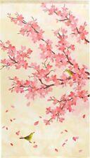 Noren Hanging Door Curtain Deco Spring Flower and Bird nightingale Made in Japan