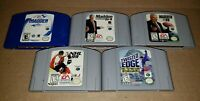 N64 Sports Games Lot NFL, NHL, Snowboarding Nintendo 64 Authentic Tested Working