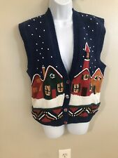 Sharon Young Christmas Sweater Vest Size L