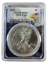 2014 1oz Silver Eagle PCGS MS69 - Eagle Frame