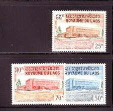 LAOS Sc 145-47 NH set of 1967 - Post service