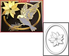 Memory Box DECORATIVE POINSETTIA OVAL Steel Craft Die 99859 Christmas