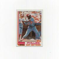 1982 Topps Gary Matthews Baseball Card #680 Philadelphia Phillies