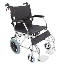 Lightweight Aluminium Folding Transit Travel Wheelchair  8kg