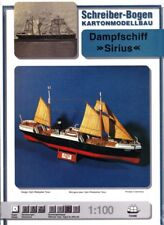 Dampfschiff Sirius navire bateau noir rouge 1:100 Schreiber-Bogen papier modèle #72496