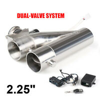 2.25 inch 57mm Exhaust Control E-cut Out Dual Valve Electric Y Pipe with Remote