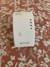 NETVIP WiFi Repeater Wireless WiFi Signal Amplifier N300 Network Internet Access