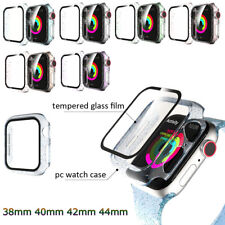 Shine Cover For Apple Watch 38 40 42 44mm Transparent Clear Case PC Bumper Film