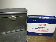 Vintage EVEREADY RECHARGEABLE ALKALINE 13.5 VOLT BATTERY in a SONY CASE # 564