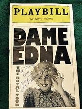 Dame Edna The Royal Tour Al Franken Autographed   Ticket Nov 26 1999   PLAYBILL