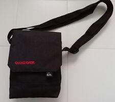 NEW QUICKSILVER Messenger Cross Body Bag / Pouch / Satchel; Black; TU 10908