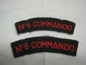 British Navy No 6 COMMANDO Shoulder Titles